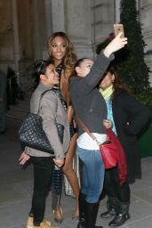 Jourdan Dunn Fashion - Leaving the Langham Hotel in London