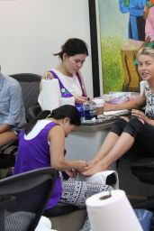 Julianne Hough at Beverly Hills Nail Design, September 2015