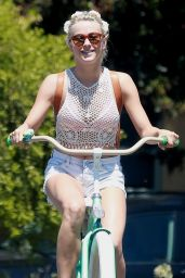 Julianne Hough in a Bikini - Riding a Bike in Manhattan Beach, September 2015