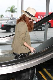 Julianne Moore at LAX AIrport, September 2015