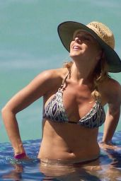 Julie Benz Poolside Bikini Babe - On Vacation, September 2015