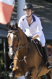 Kaley Cuoco at Flintridge Riding Club in La Canada Flintridge, September 2015