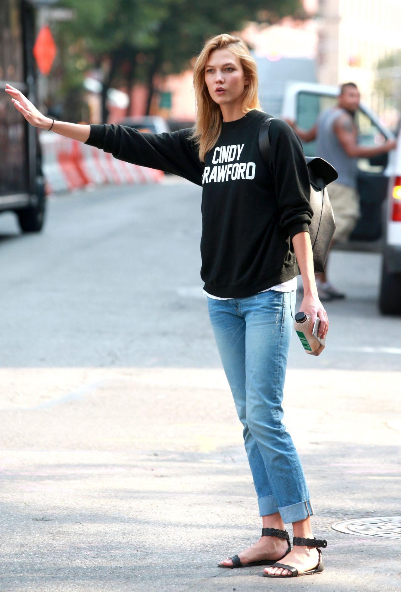 Karlie Kloss Street Style New York City September 2015