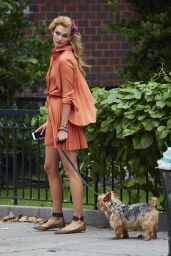 Karlie Kloss Walking Her Dog in New York City, September 2015