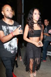 Karrueche Tran Night Out Style - 1 OAK Nightclub in West Hollywood, August 2015
