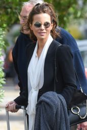 Kate Beckinsale Arriving at Heathrow Airport, September 2015