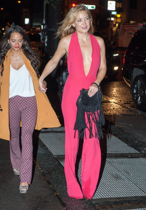 Kate Hudson Night Out Style - Leaving A Nightclub In New York City, September 2015