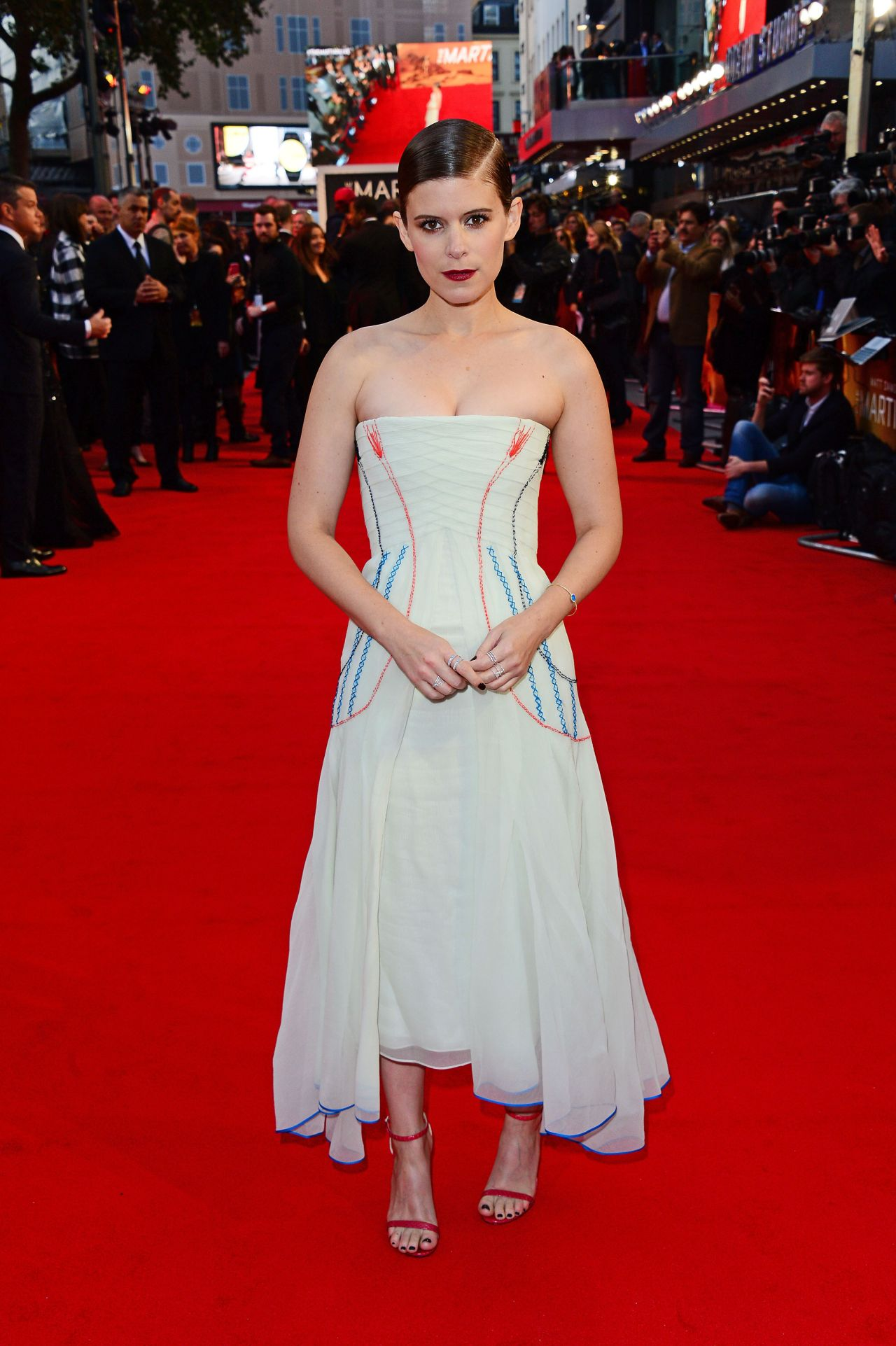 Kate Mara on Red Carpet - The Martian Premiere in London