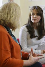 Kate Middleton Style - Visits Rehabilitation Of Addicted Prisoners Trust At HMP Send in Woking