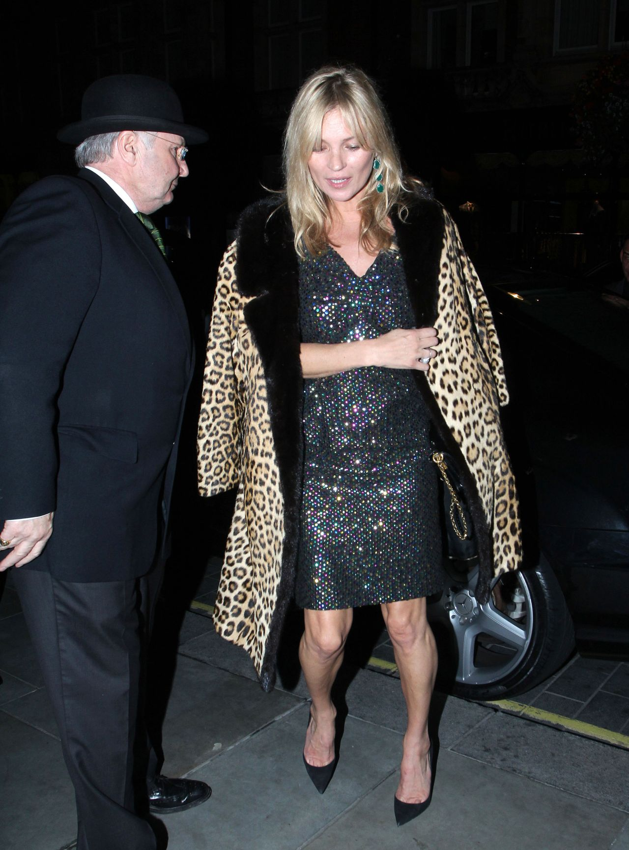 Kate Moss Night Out Style London September 2015