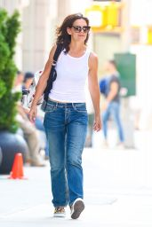 Katie Holmes Street Style - NYC, September 2015