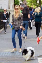 Katrina Bowden - Taking Her Dog For a Walk  - East Village, September 2015