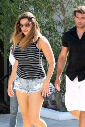 Kelly Brook in Ripped Shorts - Out in Los Angeles, September 2015