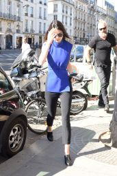 Kendall Jenner Casual Style - at her Hotel in Paris, September 2015