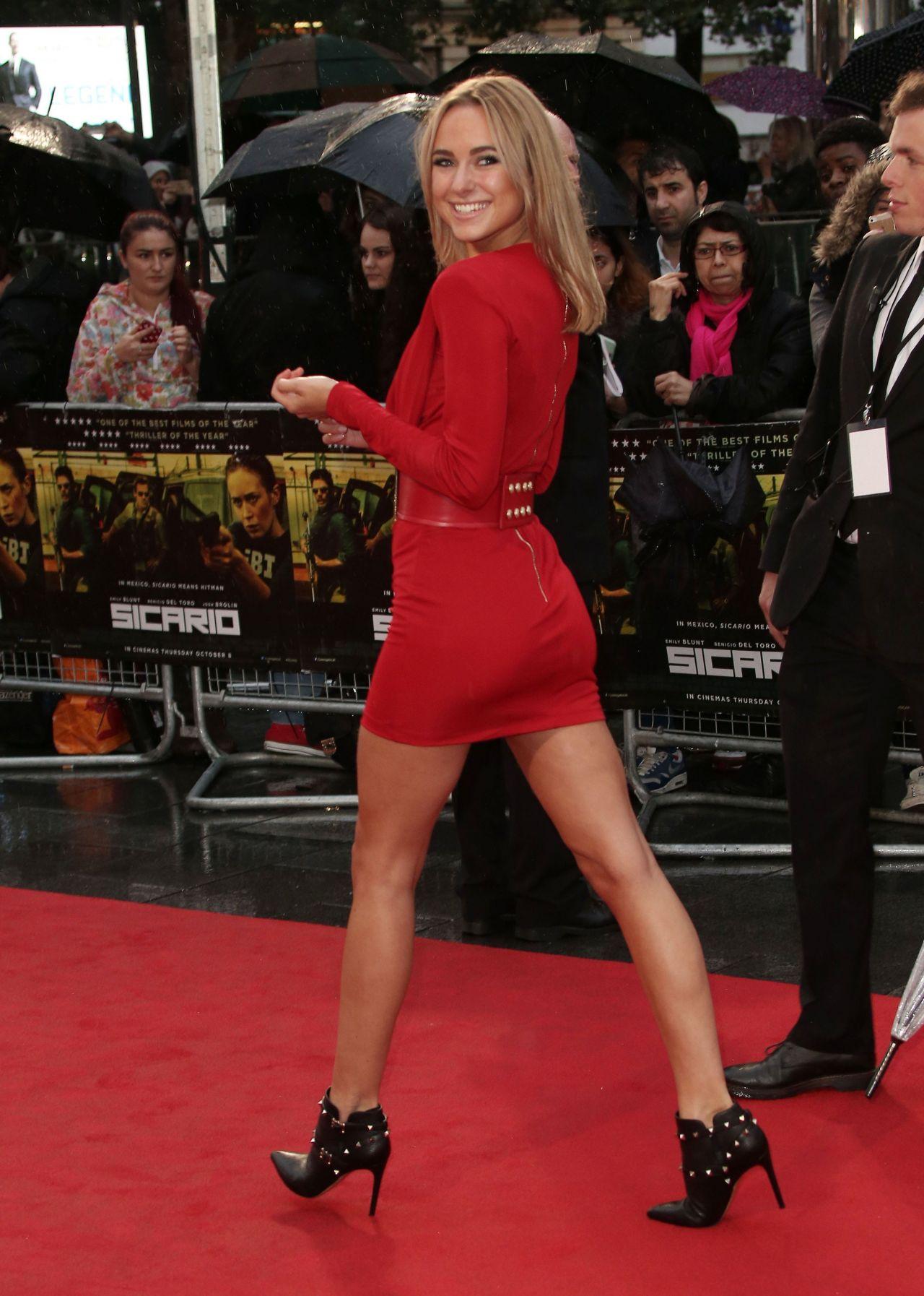 Kimberley Garner On Red Carpet Sicario Premiere In London