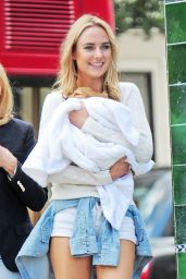 Kimberley Garner - Out With Her New Puppy on Kings Road in London, September 2015