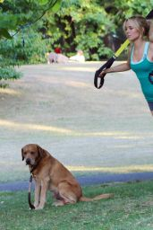 Kimberley Garner - Workout at Some Park, September 2015