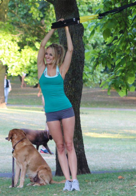 Kimberley Garner - Workout at Some Park, September 2015