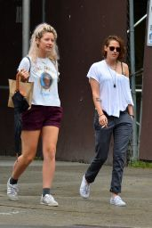 Kristen Stewart - Out With a Friend in Soho, September 2015