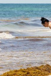 Krysten Ritter Bikini Candids - Beach in Cancun, September 2015
