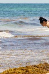 Krysten Ritter Bikini Candids - Beach in Cancun, September 2015