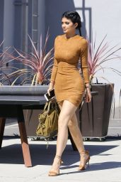 Kylie Jenner Flaunts Her Curves in Skin Tight Dress - Going to Smashbox Studios in Culver City, September 2015