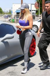Kylie Jenner Hot in Tights - Out in Van Nuys, September 2015
