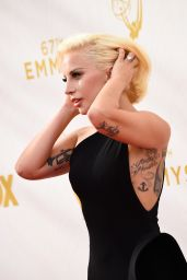 Lady Gaga on Red Carpet – 2015 Primetime Emmy Awards in Los Angeles