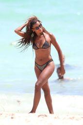 laudia Jordan Bikini Candids - Miami, September 2015