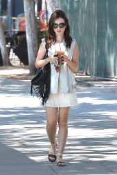 Lily Collins Casual Style - West Hollywood, September 2015