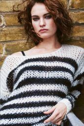 Lily James - Photoshoot for The Edit September 2015