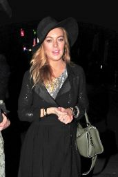 Lindsay Lohan Night Out Style - London, September 2015