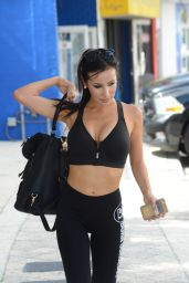 Lisa Opie Booty in Tights - Leaving a Gym in Miami, August 2015