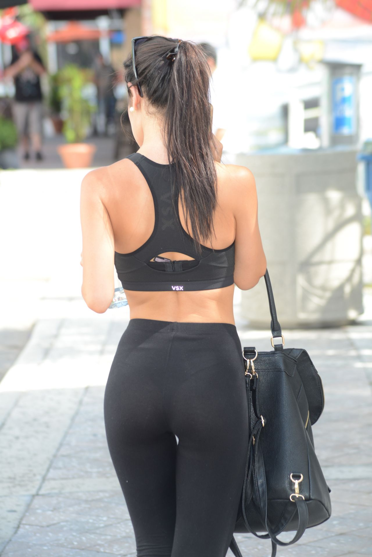 Lisa Opie Booty In Tights Leaving A Gym In Miami August