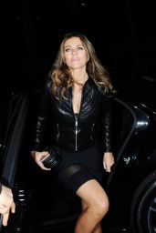 Liz Hurley Night Out Style -  at Scott