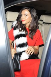 Lucy Mecklenburgh - Leaving The Haymarket Hotel After a LFW Event in London