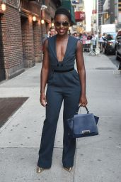 Lupita Nyongo - Leaves the Late Show with Stephen Colbert in NYC, September 2015