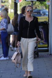 Lydia Bright - Heads to Work at Her Boutique, September 2015