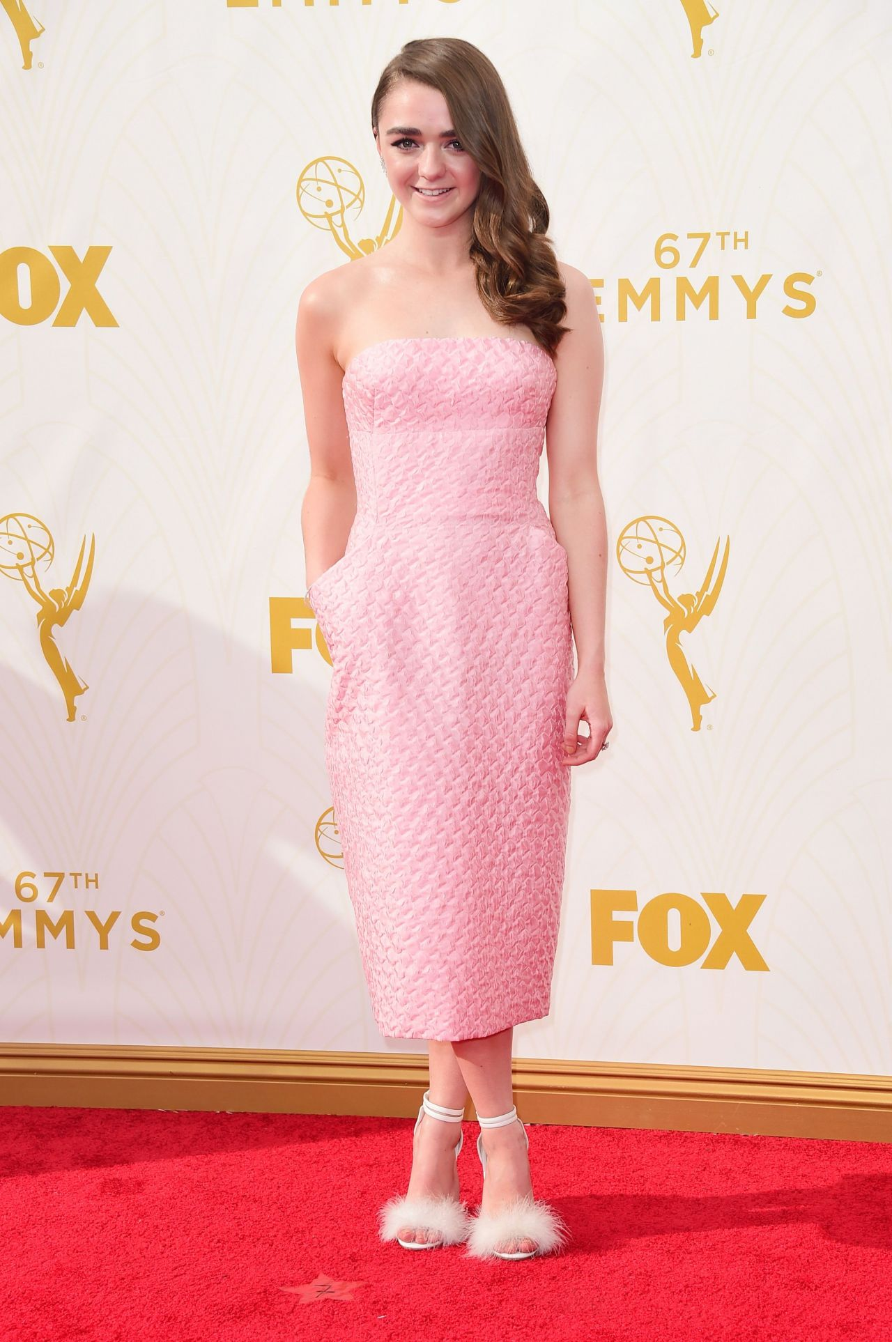 Maisie Williams 2015 Primetime Emmy Awards In Los Angeles