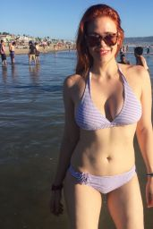 Maitland Ward in a Bikini at Malibu Beach, August 2015