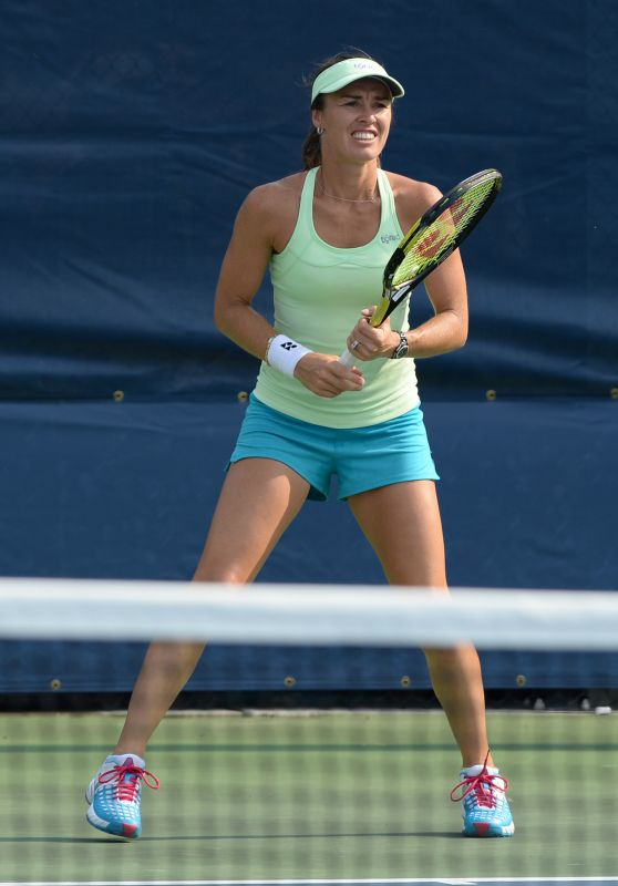 Martina Hingis - Practice Session in New York, August 2015