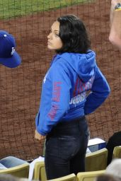 Mila Kunis - Giants vs. Dogers Game in Los Angeles, September 2015