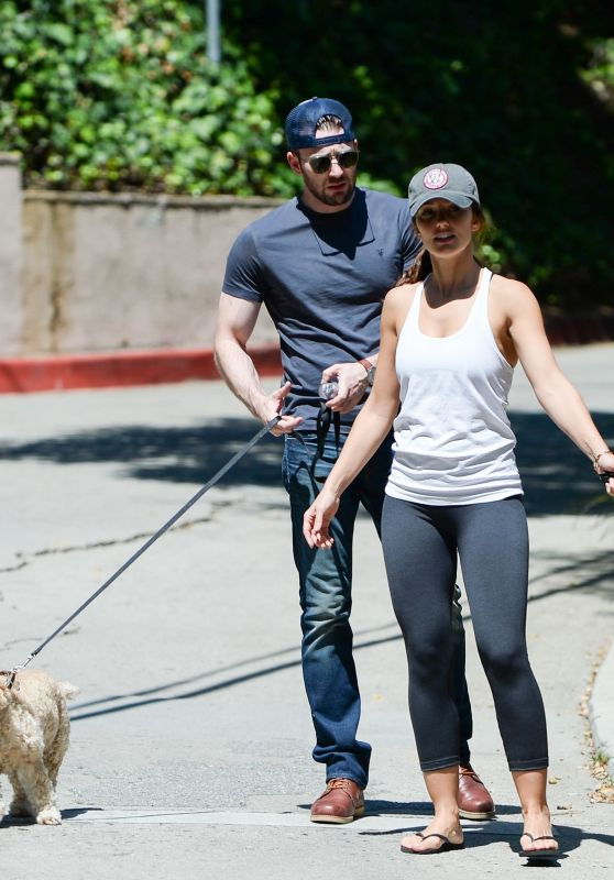 Minka Kelly Walking Her Dog in West Hollywood, September 2015