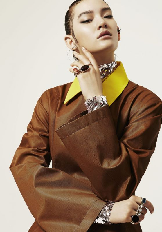 Mona Matsuoka - Photoshoot for Harper