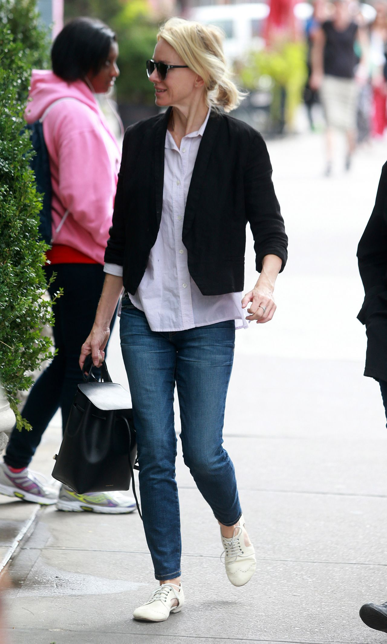 Naomi Watts Street Style – Out With Her Mom in New York City, September 2015