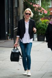 Naomi Watts Street Style - Out With Her Mom in New York City, September 2015