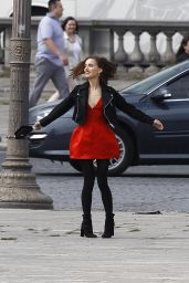 Natalie Portman - Filiming a Dior ad in Paris, September 2015