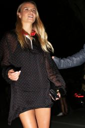 Natasha Poly - Leaving Versace SS2016 Show in Milan, September 2015