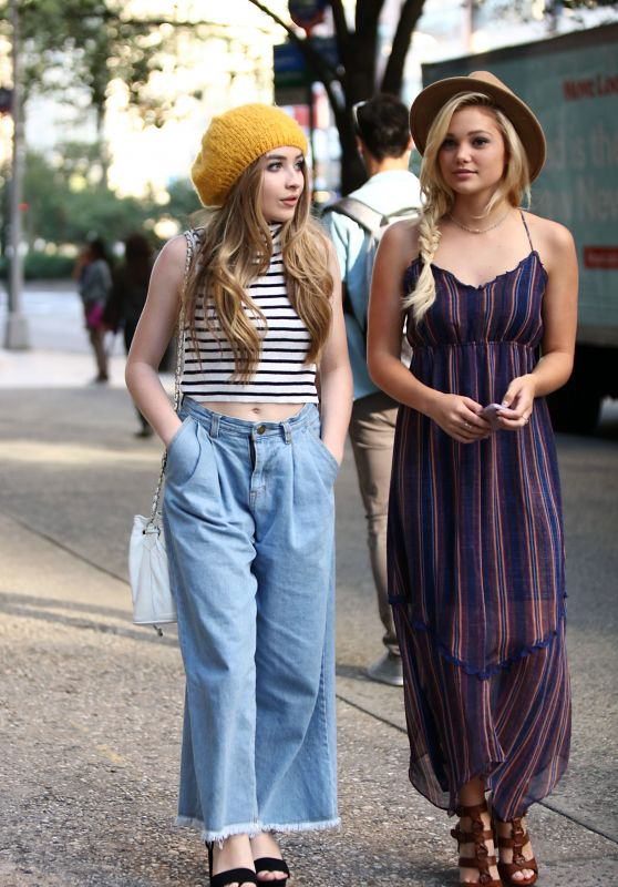 Olivia Holt & Sabrina Carpenter - Shopping in Manhattan, September 2015