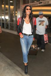 Padma Lakshmi Airport Style - LAX Airport, September 2015